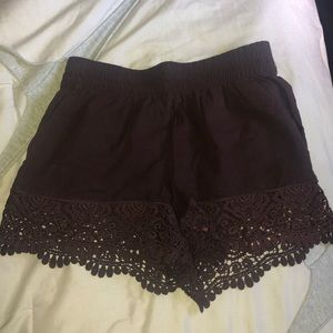 shorts with lace bottom from H&M